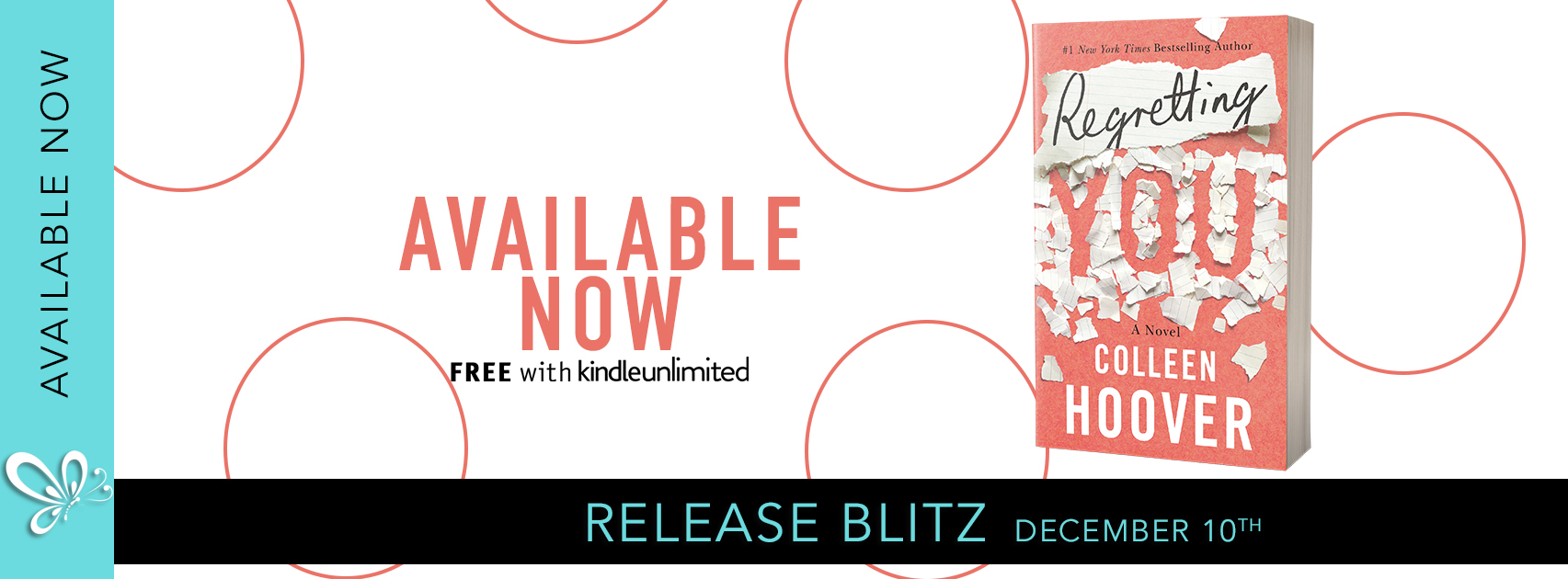 Social Butterfly PR Release Blitz: Regretting You by Colleen Hoover